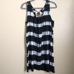 Blue and White Tie Die Dress size Medium